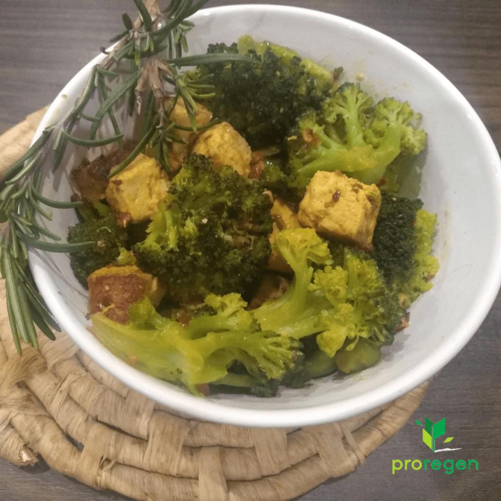 Brokolica s tofu